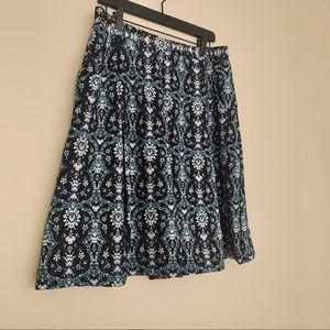 Blue Damask Skirt